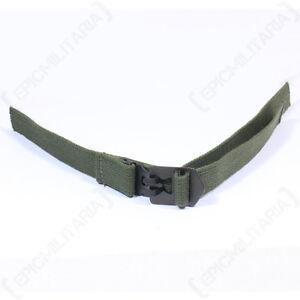 Original M1 Helmet Infantry Chin Strap - Green Post WW2 Canvas Webbing Unissued