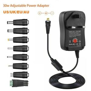 30W 3V-12V AC DC Adapter Adjustable Power Supply Universal USB Adaptor Charger