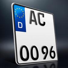 1 Motorrad Kennzeichen | 180 x 200 mm | Motorradkennzeichen Saison | DHL-Versand