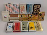 Vintage PLAYING CARD DECKS Lot of 21 ADVERTISEMENTS Airlines Tobacco BI Art