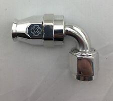 W608P -10AN 90 degree Hose End / PTFE / Teflon Swivel 10 AN Fitting -10 Polished
