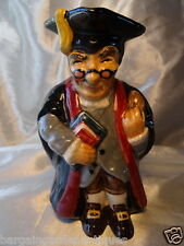 Vintage Roy Kirkham Pottery Headmaster Character Toby Jug Made In England