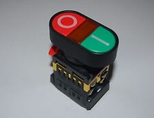 22MM Double head PUSH BUTTON SWITCH with 120V AC LED Light Momentary ON/OFF