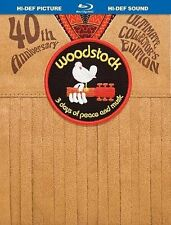 Woodstock: Three Days of Peace  Music (Blu-ray Disc, 2009, Directors Cut 40th...
