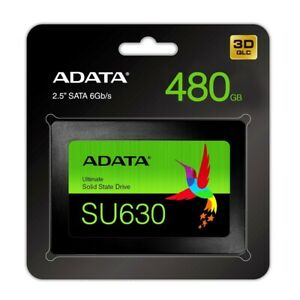 "Adata 480GB Ultimate SU630 Solid State Drive QLC 3D NAND Flash SATA 2.5"" SSD"