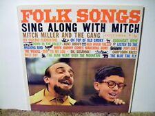 "MITCH MILLER SING ALONG, "" FOLK MUSIC "", VINTAGE 1959 NEAR MINT,FOLK COLLECTIBLE"