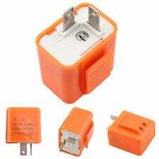 2-Pin Orange LED Flasher Relay Turn signal Light Blinker Adjustable For Harley