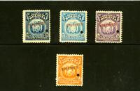 Bolivia Stamps Specimen # 122-5 NH Rare