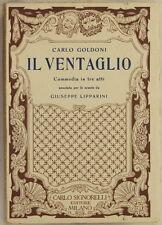 CARLO GOLDONI IL VENTAGLIO COMMEDIA TEATRO GIUSEPPE LIPPARINI SIGNORELLI 1932