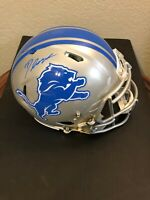D'Andre Swift Detroit Lions Signed Autograph Authentic Full Size Helmet Fanatics