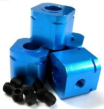 L158 1/5 Scale 17mm Drive Square Wheel Hub Aluminium Alloy Navy Blue x 4