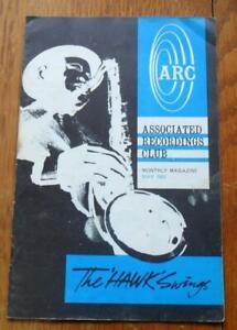 Vintage JAZZ magazine Associated Recordings Club ARC 1962 'The Hawk Swings'