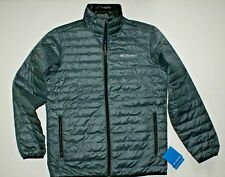 Columbia Mens Wood Creek Lightweight Water-resistant Down Fill Jacket Grey M NWT