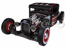 1929 FORD MODEL A FLAT BLACK CUSTOM 1/24  DIECAST CAR MODEL BY MAISTO 31354