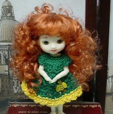 "Doll Wig, Monique Gold ""Jillian"" 3.25""  - Carrot Red - for Amelia Thimble"
