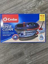 O-Cedar Ocedar EasyWring RinseClean Spin Mop Bucket 2 Tanks O Cedar Rinse Clean