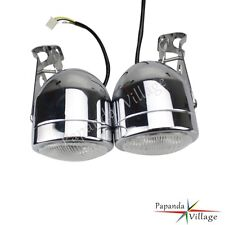Twin Round Dominator Motorcycle Headlights With Bracket Streetfighter For Harley