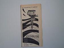 advertising Pubblicità 1959 MOTORI FUORIBORDO  EVINRUDE