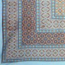 Handmade Cotton Moroccan Foulard Tapestry Tablecloth Coverlet Bedspread 70x106