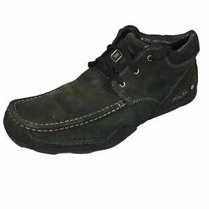 Marc Ecko Unltd Men's Keen Freeform Black Leather Square Moc Toe Shoes US 10.5