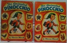 THE ANIMATED PINOCCHIO 1945 POP UP BOOK