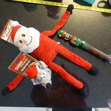 NWT 3 Christmas themed dog toys  retrieve chew - FS -E