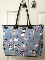 Disney Dooney & Bourke Mickey Minnie Hipster Attractions blue bag purse tote