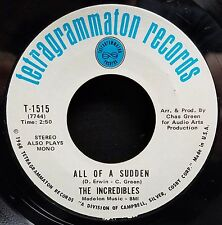 Incredibles Soul 45 All Of A Sudden / Standing Here Crying NM- Tetragrammaton