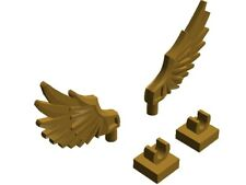 Lego Wing Feathered with Clip x2 Gold Ninjago Chima Batman Elves Creator New