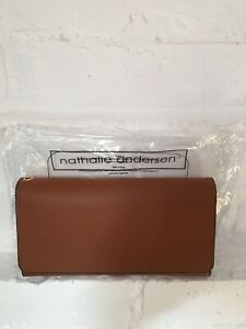Nathalie Anderson Lovely Faux Leather Organiser Purse Large/Tan/Stud Fasten