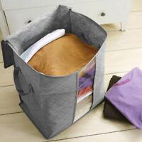 Bamboo Charcoal Folding Clothes Blanket Closet Organizer Box: Bag Storage Q1S5