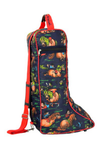 Hy Equestrian- Thelwell Boot Bag - Waterproof Nylon - Funky Style -Free Delivery