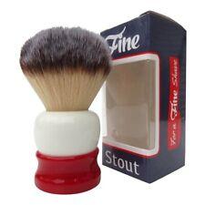 Fine Stout Synthetic Angel Hair Shaving Brush Red White