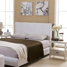 Kings Brand Furniture – Faux Leather White Upholstered Headboard, Full / Queen