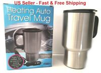 Heated Stainless Steel Cup Coffee Mug Travel Portable Auto Car 12v Charger 16 oz