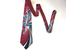 MEN'S NECK TIE GRANADA OF CALIFORNIA Abstract Maroon Classic Neck Wear F/SHIP