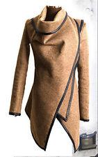Women's Warm Wool Slim Long Trench Parka Peacoat Outwear Overcoat Coat Jacket