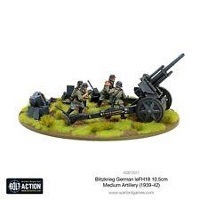 Bolt Action German Blitzkrieg leFH 18 10.5cm medium artiller metal Warlord Games