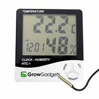 Grow Gadgets Hygrometer Min Max Thermo Hydroponic Grow Room Tent Hydrometer