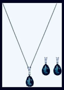 Swarovski Set pearl  5450937 Vintage Color Blue non Precious Alloy Rhodium Allow