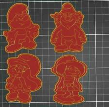 Set Of 4 Smurfs Cookie Cutters
