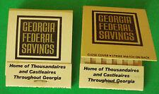 TWO VINTAGE GEORGIA FEDERAL SAVINGS ADVERTISING MATCHBOOKS