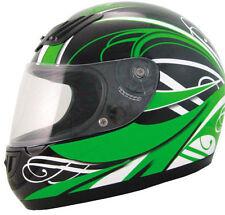 Casco integrale verde Kawasaki ninja NUOVO da per moto XS omologato 636