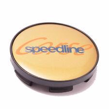 SPEEDLINE CORSE ALLOY WHEEL GOLD CENTRE CAP (1) with Plastic Back 60mm
