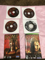 Rome Total War Gold Edition PC DVD-ROM 4 Discs & 2 Manuals - NO CASE