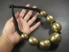 N5270 FASHION BOLD BRASS Round Bead TIBETAN Gypsy tribal Massive Necklace India