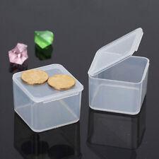 Kunststoff Aufbewahrungs Boxen mit Deckel Transparent Schmuck Plastik Box Kasten