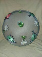 "12"" Mesh Round Dish Cover Green With Lady Bugs"