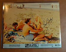 Rod Taylor (1930-2015) Authentic Autograph 8x10 Lobby Card The Hell With Heroes