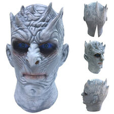 Halloween Scary Game Of Thrones Night King Latex Mask White Walker Cosplay Prop
